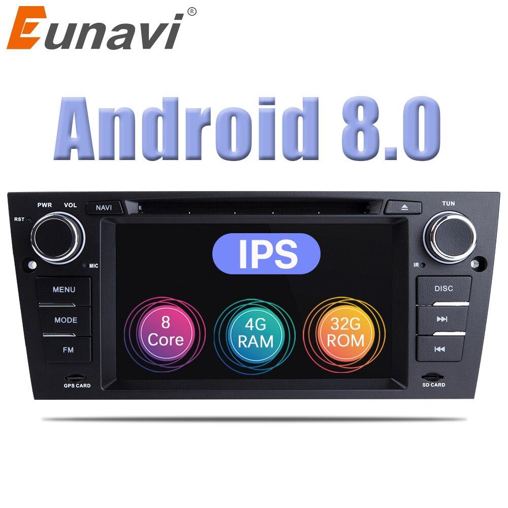 7 Eunavi ''Android 8.0 Din Player Multimídia Carro DVD GPS Navi Para 3 1 Série BMW E90 E91 E92 e93 318 320 325 Canbus USB wifi bt