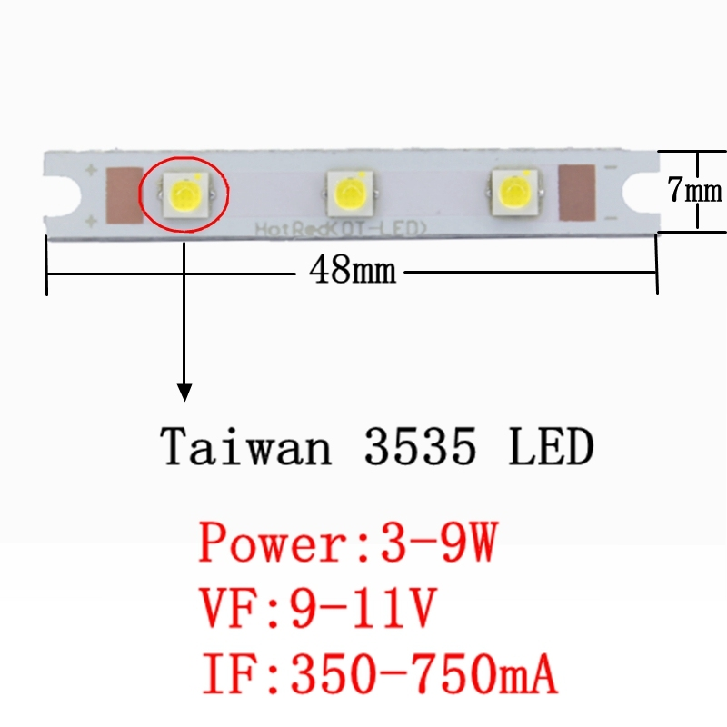 3w High Power LED on Star Board 6500k 750ma 7000k Cool White 3w Hi Power