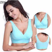 Ztov algodão amamentação maternidade sutiãs de enfermagem do sono sutiãs para a alimentação roupa interior de enfermagem grávida tamanho m/l/xl/xxl/xxxl