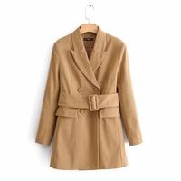 2019 New Design Women Fashion Suit Blazer V neck With Sashes Long Sleeve Blazers Outwear Autumn Jacket