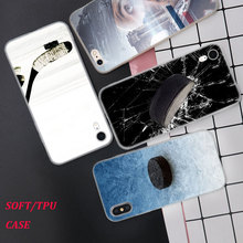Silicone Phone Case Hockey Sport Fashion Printing for iPhone XS XR Max X 8 7 6 6S Plus 5 5S SE Phone Case Matte Cover стоимость
