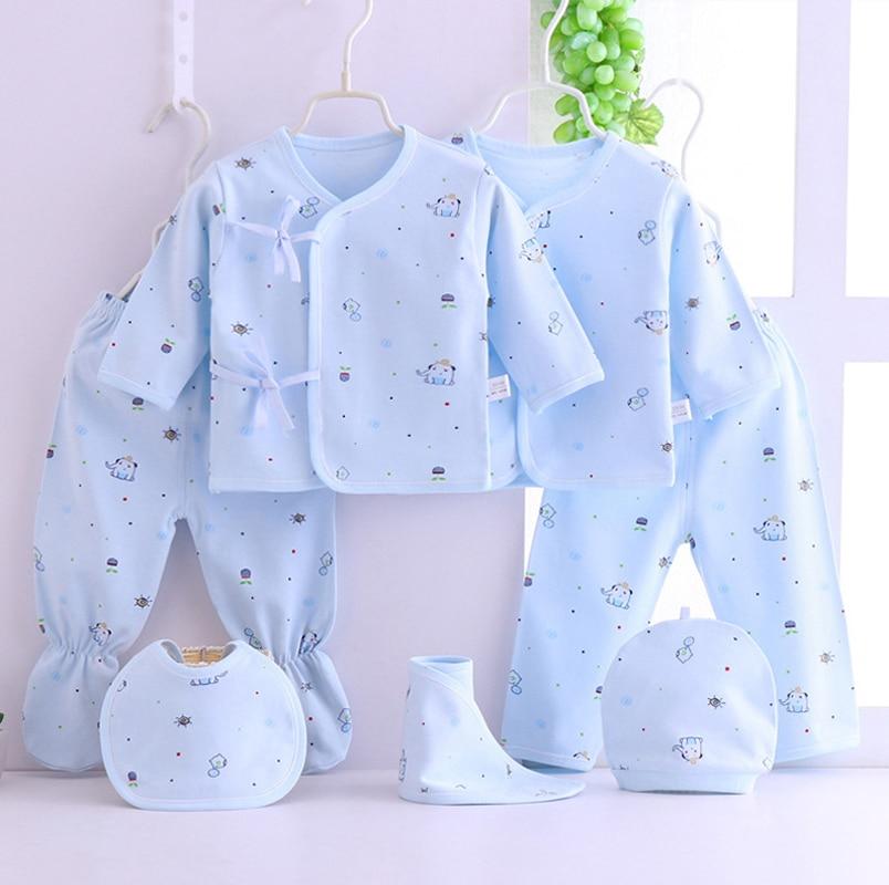 Emotion Moms Cotton Baby Clothing Set Newborn Babyboy Romper Toddler Clothes Spring Summer Babygirl 7pcs/set