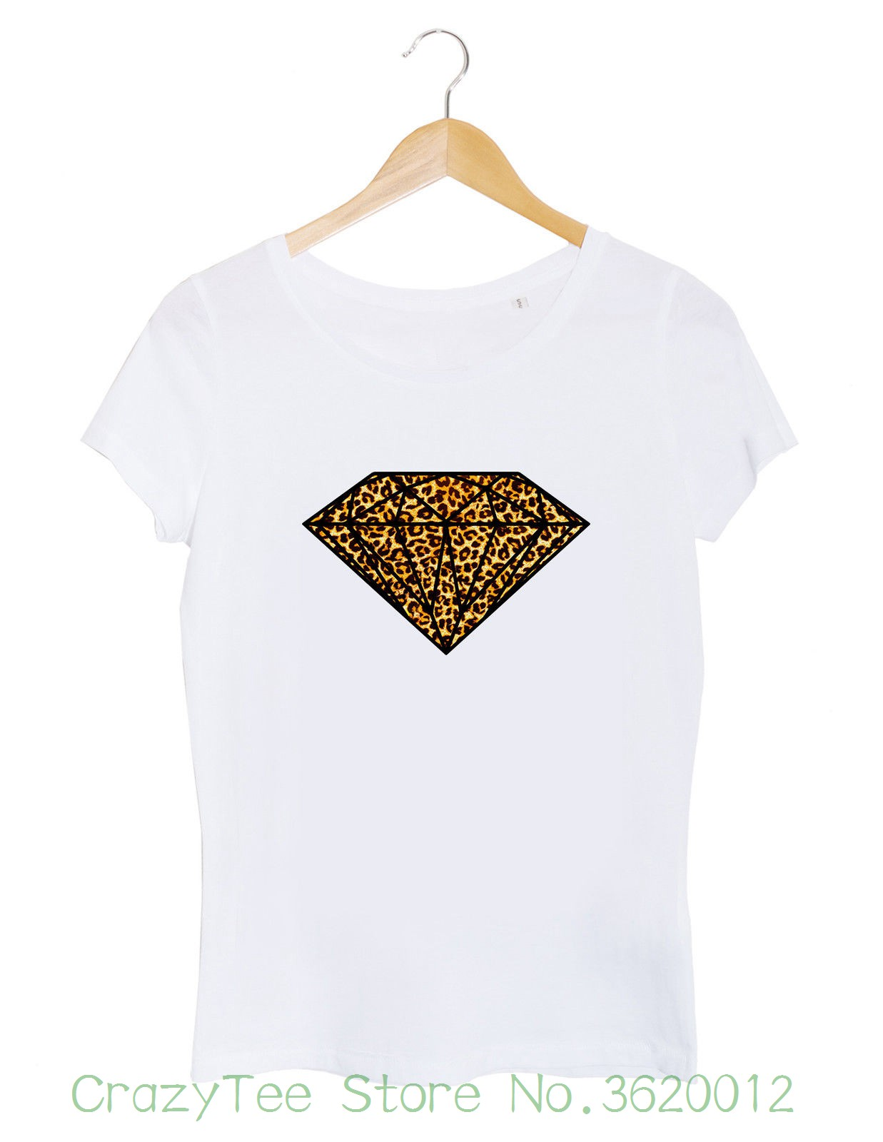 Women's Tee T-shirt Femme Diamant Safari Tigre Afrique Animal Mode Blog Beyonce Paris France New Arrival Summer Style image