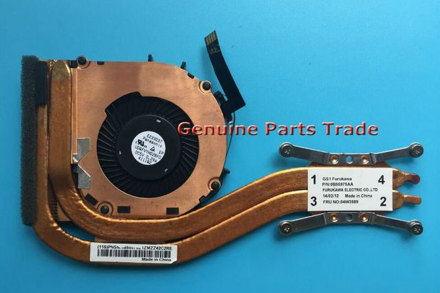 US $26 39 9% OFF|New Original Cooling Fan For Lenovo ThinkPad X1 Carbon  Cooler Radiator CPU Heasink 04W3589 Independent UDQFVYH02BFD  PN:0B55975AA-in