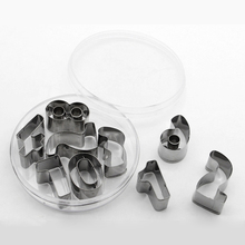 9 Number Cake Mould Set Fondant Cookie Stainless steel Baking Cake Biscuits Tools Biscuit Cake Mold Cutter