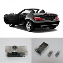 Car Door Welcome Light Shadow LED Laser Projector Logo For Mercedes Benz SLK 2012~2016 Courtesy Doors Lights Accessories Parts