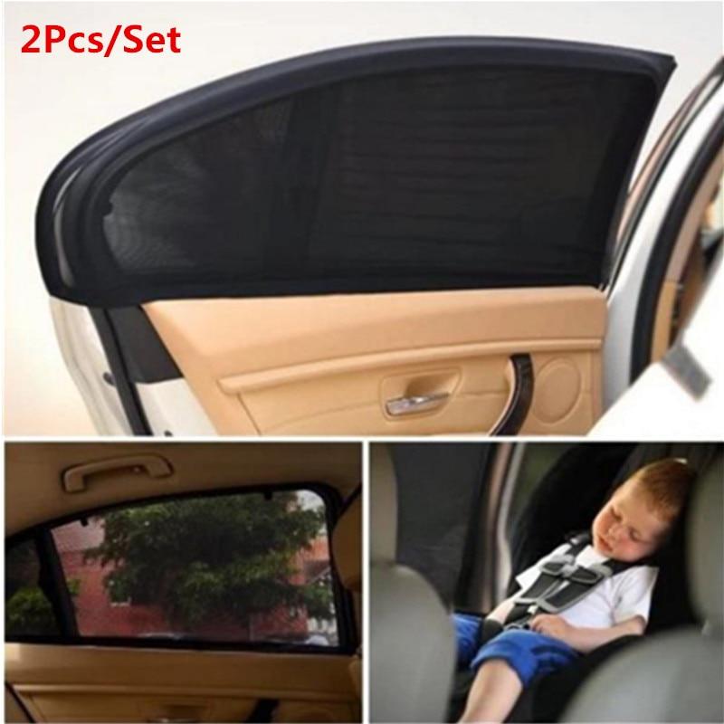 2Pc 차 차양 커튼 자동 창 덮개 UV 보호 태양 그늘 차양 창 보호자 필름 차 부속품 보편적 인
