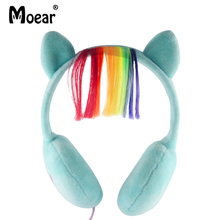 Children Kids Cartoon My little Pony  Headphones Wired 3.5mm Earphones For MP3 Players PC