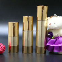 Luxury Wire Drawing Empty Airless Pump bottles Mini Portable Vacuum Cosmetic Maquiagem Lotion Treatment Travel bottle 100pcs