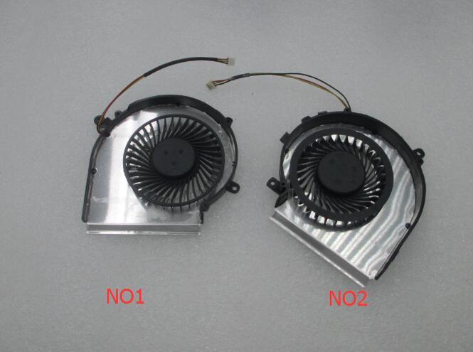 OEM-CPU EN GPU Koelventilator voor MSI GE72 GE62 PE60 PE70 GL62 GL72 2QD 2QE 2QF PAAD06015SL 3pin 0.55A 5VDC N303 N302