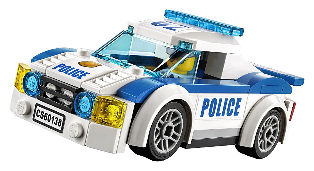Models building toy Compatible with lego City 60138 Police High ...