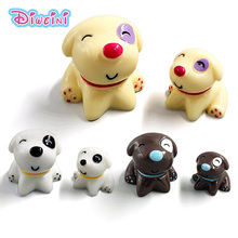 Lovely Dogs Model Cartoon Animal model Boy Girl toys Figurine baby Playing home decoration free shipping