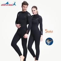 Толще 5 мм неопрена SCR гидрокостюм Подкладка из флиса подводное плавание Шестерни для Для мужчин Для женщин теплые зимние Плавание Серфинг в