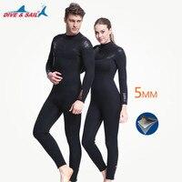 Толще 5 мм неопрен SCR гидрокостюм флисовая подкладка подводное плавание шестерни для мужчин женщин теплые зимние Одежда заплыва сёрф