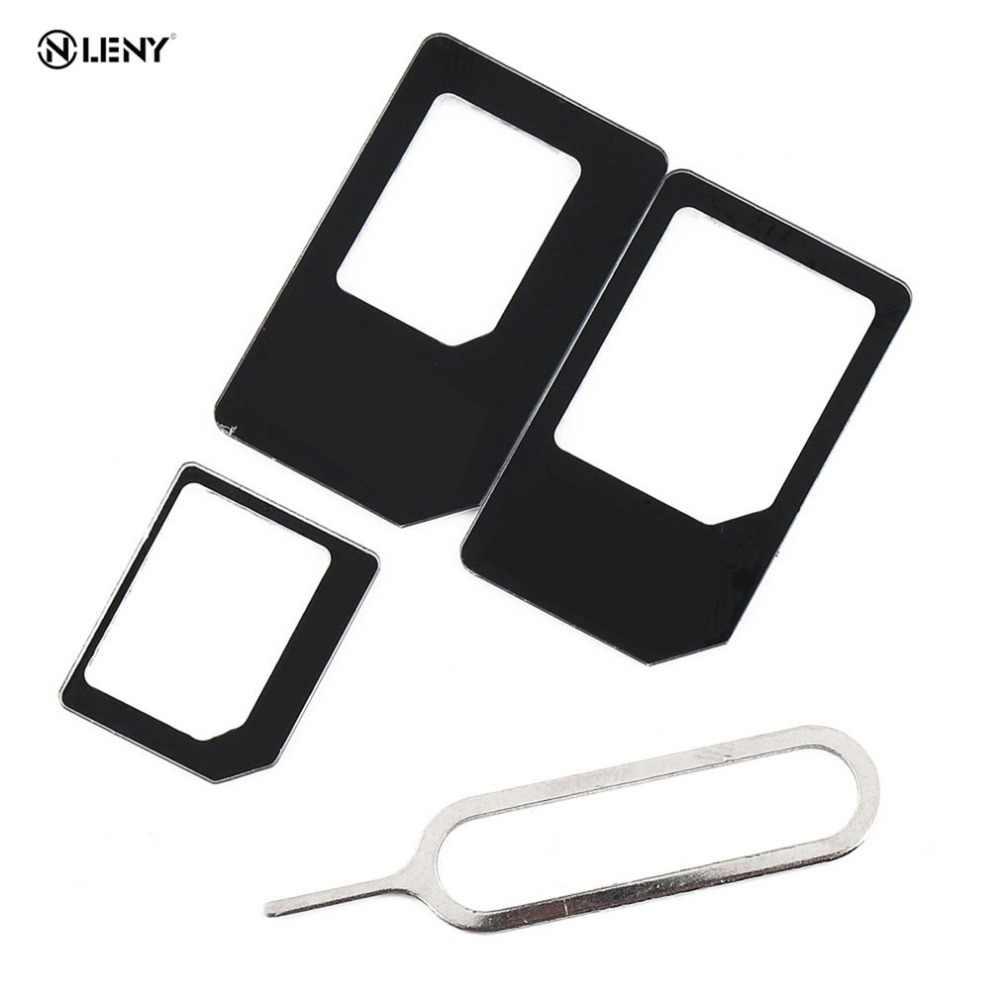 ONLENY 4 en 1 Adaptador de tarjeta Sim Kit Micro estándar Sim Adaptador para iPhone 5 y 5s 6 7 4 para Samsung S8 S7 S6 plus al por mayor