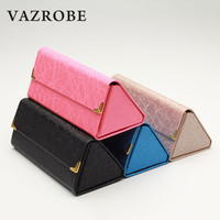 Cubojue Foldable Sunglasses Case Fashion Women Glasses Box PU Leather Female Pink/black/blue/champagne Storage for Spectacles