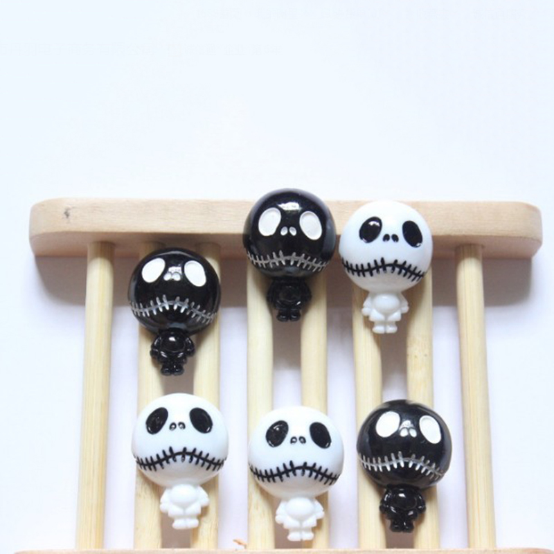 10 Pcs/lot New Arrival The Nightmare Before Christmas Jack Skeleton Resin Patch For Child Hair Ornament Phone Decor Craft Toys