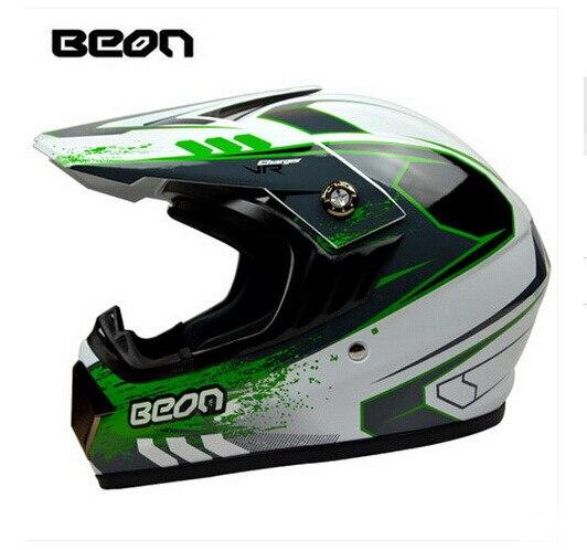 Netherland BEON мотоциклетный шлем для мотокросса высшего качества рыцарь внедорожный мотоциклетный защитный шлем из АБС B-600 Размер M L XL - Цвет: Bright white Green