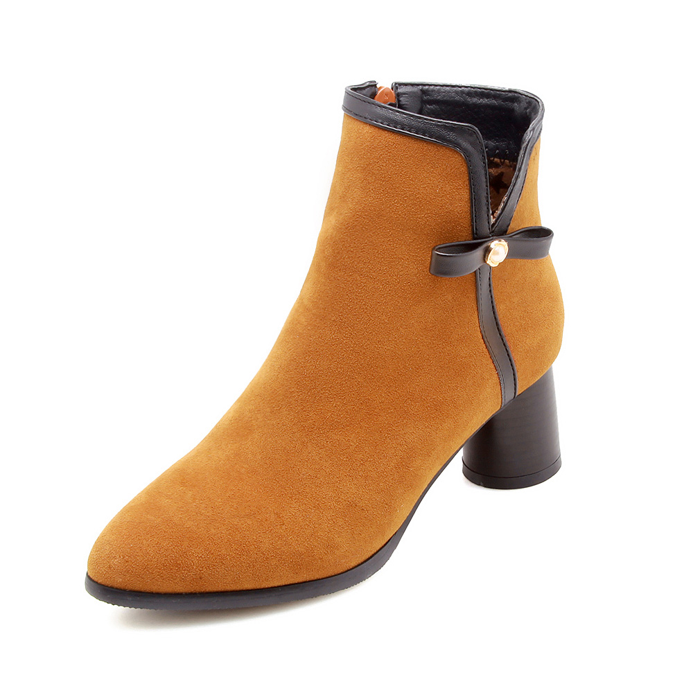 19ca198a2df 2018 Brand New Winter Comfortable Yellow Women Ankle Casual Boots Lady  Shoes High Heels EK815 Plus Big Small Size 10 32 43 47-in Ankle Boots from  Shoes on ...