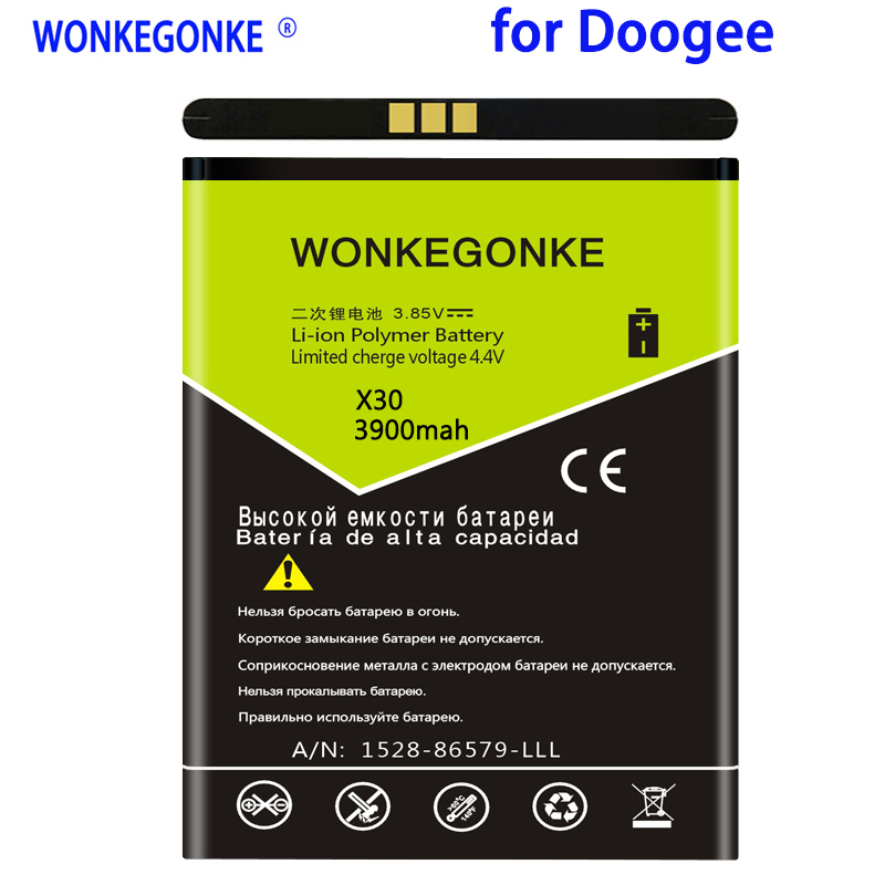 WONKEGONKE 3900mah For Doogee BAT17613360 <font><b>battery</b></font> <font><b>X30</b></font> <font><b>Battery</b></font> High quality mobile phone <font><b>battery</b></font> with tracking number image