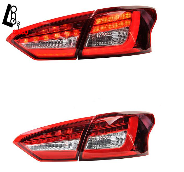 Clear Red LED Taillights For  Ford Focus 2012-2014 Titanium SE SEL Rear Light 50w 25 led red