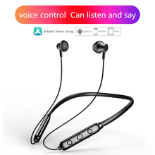 Ali C Smart Bluetooth 5.0 earphone AI Voice Control Sports Wireless Headset Hanging Neck for Android Apple стоимость
