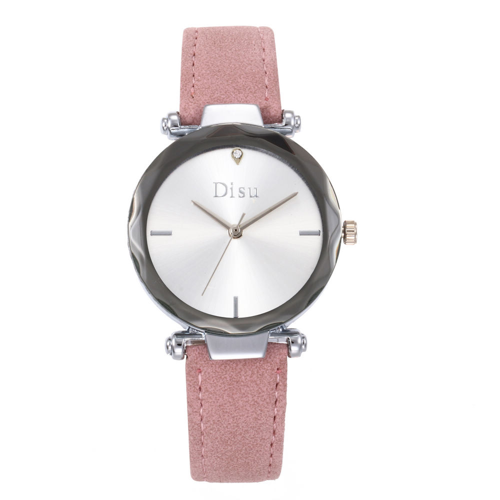DISU New Fashion Concise Clock Female Quartz Leather Magnetic Watches Women Ladies Casual Dress Quartz Wrist Watch Reloj Mujer