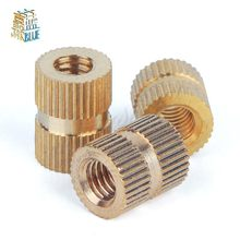 50Pcs M5*L*(OD) Injection Molding Nut Brass Insert Knurled Nuts Knurling Embedded Parts(China)