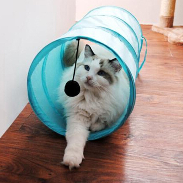 Cat Play Tunnel Pure Color Polyester Cloth Folding Tent Toy Cat With Ball Play Fun Toy & Aliexpress.com : Buy Cat Play Tunnel Pure Color Polyester Cloth ...