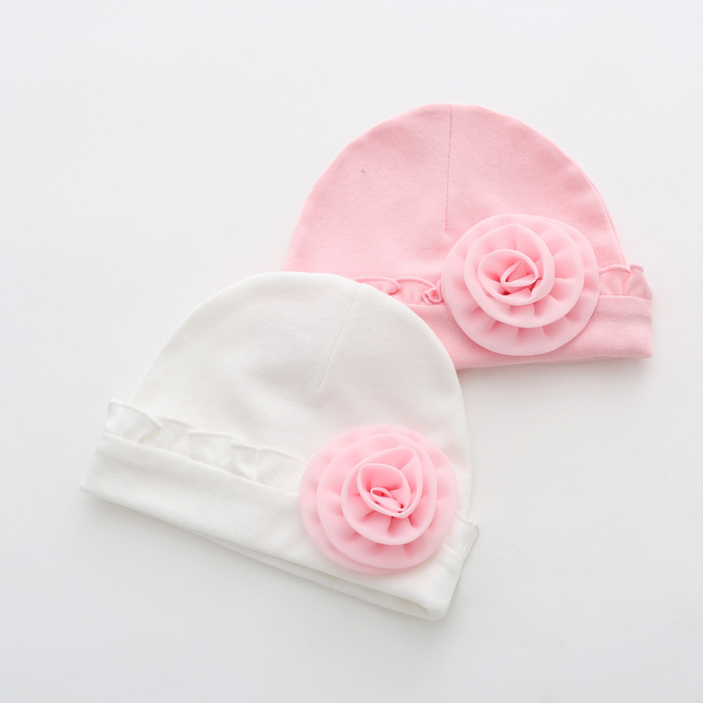 2018 Newborn Baby Girls Infant Flower Hat Soft Cotton Beanie Hat for  Toddler Baby Girl Boy Child Caps babies hats photography e97b402dded