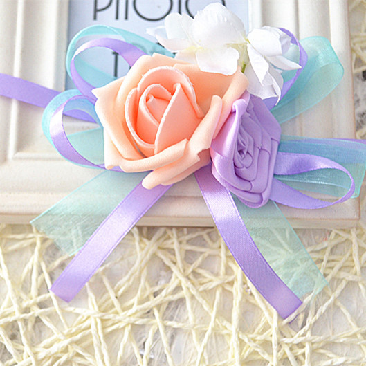 2017 Hot Sale Bride Bridesmaid Wrist Corsage Flower Beautiful Fresh Customized Shipping