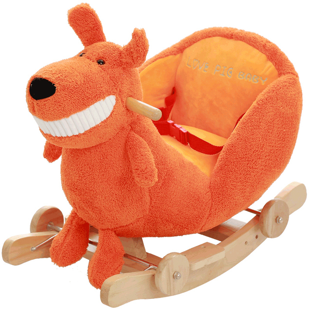 Baby Horse Toy Plush Baby Swing Chair Rocking Chair Baby Bouncer Plush infant Seat Kids Outdoor Ride on Toy Rocking Stroller Toy