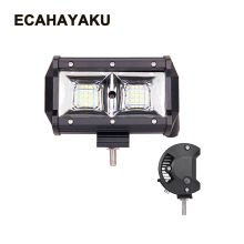 цена на ECAHAYAKU 1x 5 inch 54w Off-road LED work light Bar Headlight flood Beam for 4x4 UAZ ATV Truck SUV 12V 24V jeep truck pickup 4WD