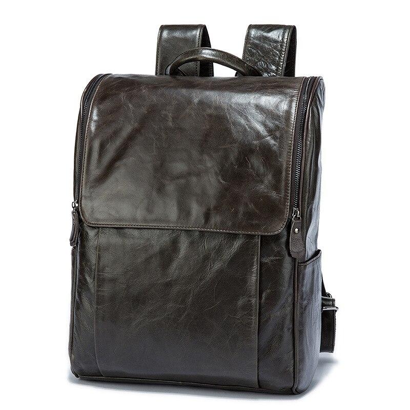 Amasie Men Backpack Leather Male Functional bags Men Waterproof backpack  big capacity Men Bag School Bags For Teenager EGT0336