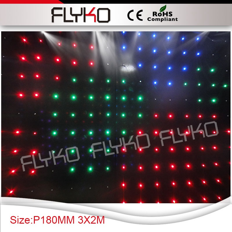 P18 2x3m 176pc Leds Flexible Led Curtain Screen And Led Curtains