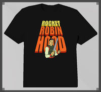 Fashion Short Sleeve Rocket Robin Hood 1960S Cartoon Design T Shirt Novelty Tops Male Custom Printed