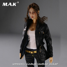 Mak Sexy   Scale Woman Female Agent Black Leather Jacket