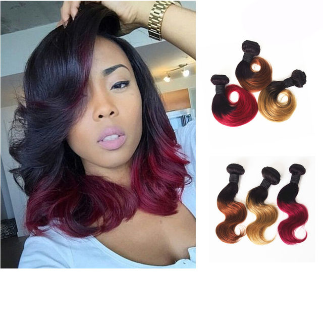 Amapro Hair Product 1pc Ombre Virgin Hair Short Body Wave