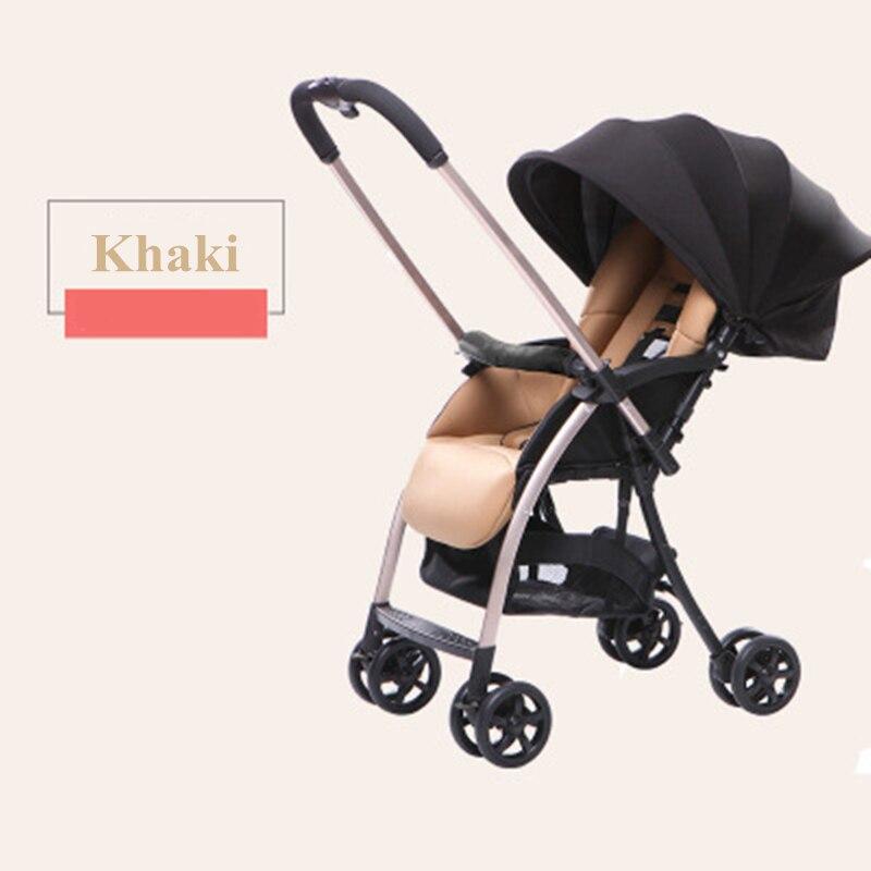 BABY LIFE Summer Stroller Lightweight Stroller Folding Shock Absorber Portable Umbrella Can Sit Reclining Two-way Trolley