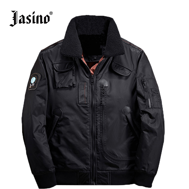 98409e544 Jasino brand casual black men borg fur collar winter warm coats ...