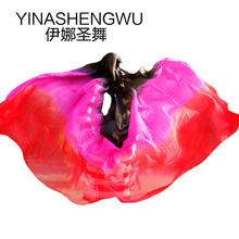 Belly Dance Props Women Silk Veils Veil For Girls black+rose+red