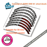 Hot Sale 50mm rims Road Racing Bike Wheel Stickers 4 Face Wheels Decals BORA ULTRA ONE 50 Stickers wheel rims decals