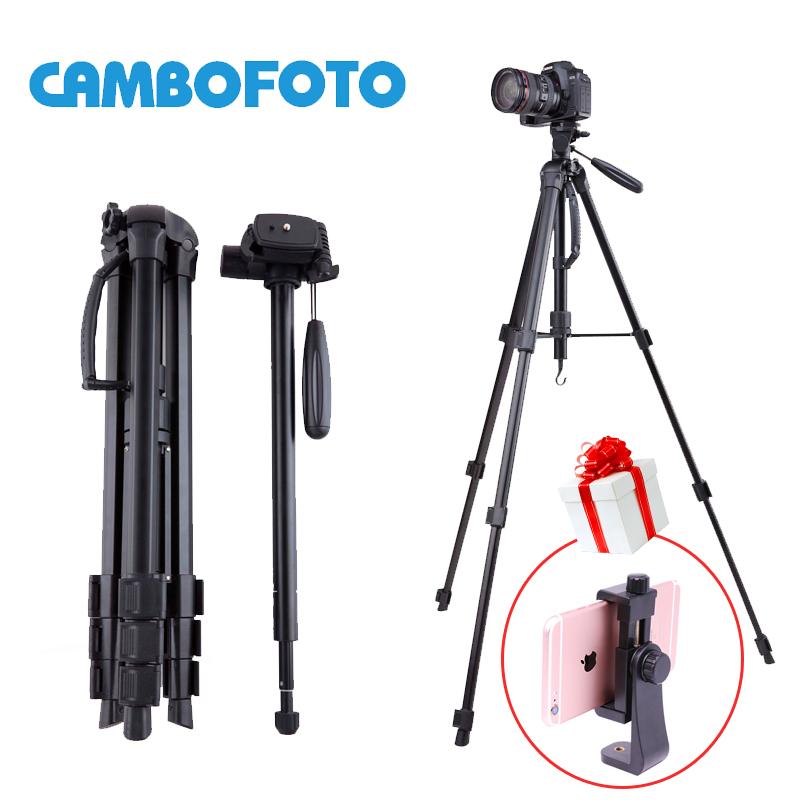 Prix pour Nouvelle arrivée cambofoto trépied en aluminium manfrotto avec portable sac de transport pour appareil photo reflex numérique vertical et horizontal tir max 1.76 m