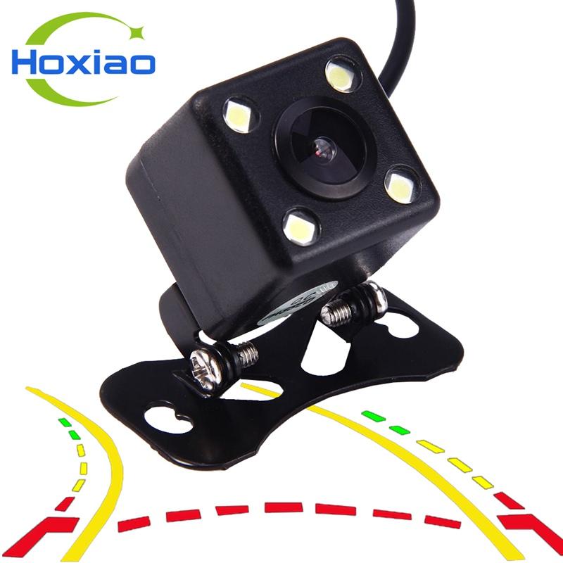 Prix pour Dynamique trajectoire HD nuit vision image de voiture Rétroviseur caméra de recul Universelle trajectoire arrière vue caméra de recul LED HD