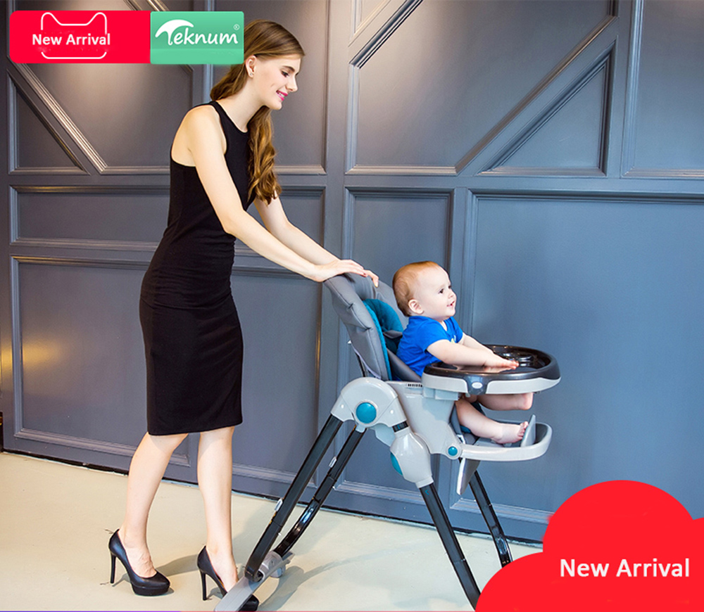 Brand Baby High Chair  Rushed Metal Baby Highchair Tekunum Baby Feeding Chair Brand Chair For Eating Snack Tray Send Mat
