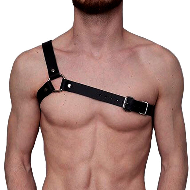 New brand design Leather Harness belts Men Sexy Punk Leather Adjustable  Body Chest Harness Body Bondage Belt leather Suspenders