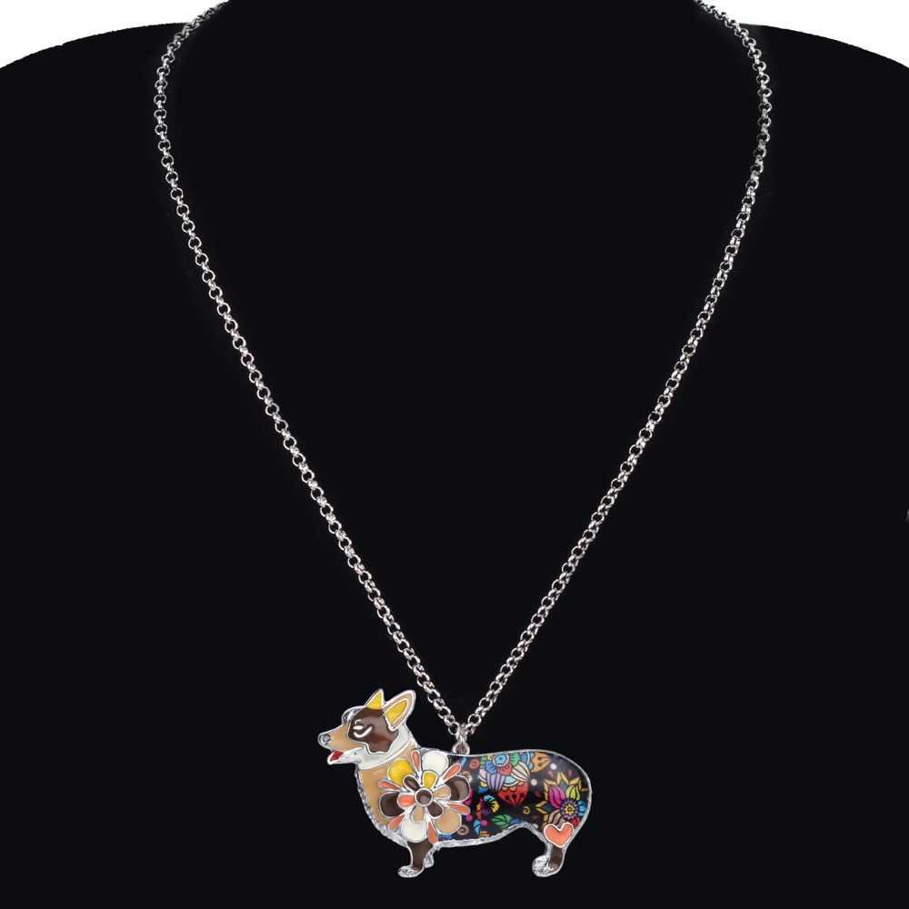 WEVENI Эмаль сплав вельш корги пемброк собака серьги ожерелье воротник милые наборы украшений в форме животных для женщин девушки аксессуары подарок