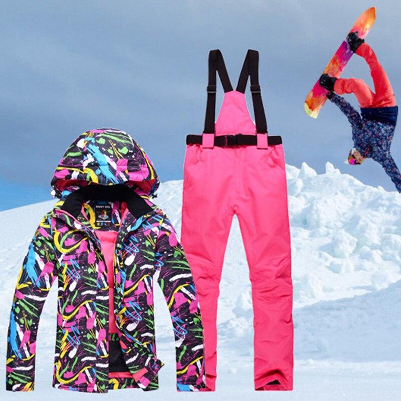 Chaqueta de esquí abrigada gruesa de invierno chaqueta de snowboard para mujer + Pantalones abrigo de montaña al aire libre a prueba de viento en general-in Chaquetas de esquiar from Deportes y entretenimiento on AliExpress - 11.11_Double 11_Singles' Day 1
