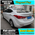 AUTO.PRO 2012-2015 For Hyundai elantra taillights car styling For Hyundai elantra fog lamps led light guide parking tail lamps