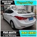 AUTO. PRO 2012-2015 Para Hyundai elantra coche que labra Para Hyundai elantra faros antiniebla luces traseras led de guía de luz de la cola de estacionamiento lámparas